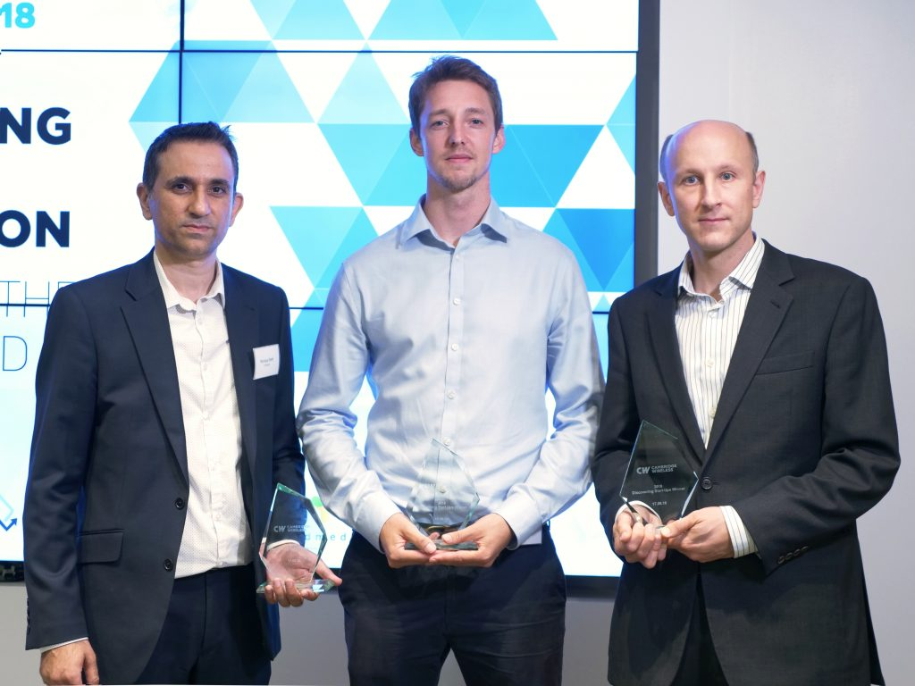 Winners of CWDS2018 - Conigital, Tethir and Granta Innovation